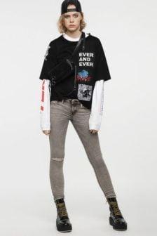 Diesel skinzee low zip jeans 084up