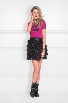 Nikkie rock layer skirt black