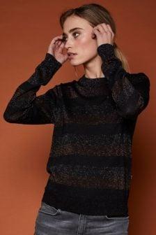 10 feet fijn gebreide lurex pullover