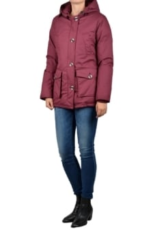 Airforce 4-pocket herringbone jacket burgundy