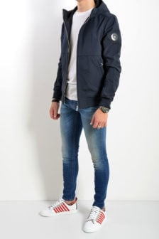 Airforce softshell casual jas donker blauw