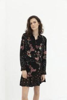Alix patchwork blouse black