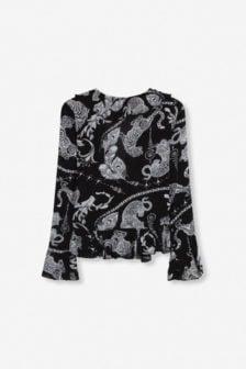 Alix the label graphic animal blouse zwart/wit
