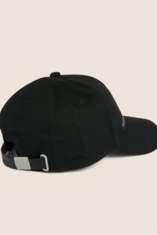 Armani man woven cappello baseball cap nero
