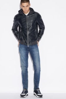 Armani exchange blouson jas donkerblauw