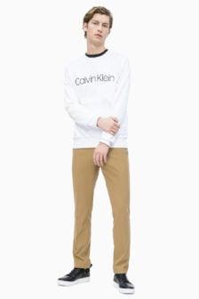 Calvin klein logo sweatshirt wit