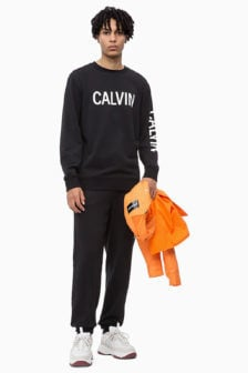 Calvin klein sweatshirt met logo zwart