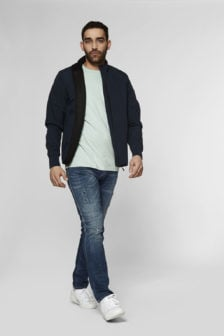 Denham steel soft shell lss jas donkerblauw