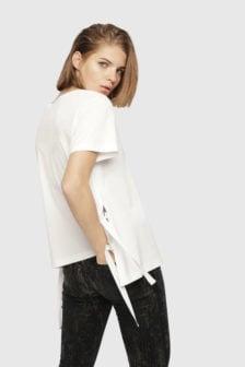 Diesel t-fleuris-a t-shirt wit