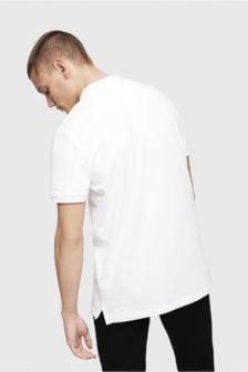 Diesel t-heal-broken-st polo shirt wit