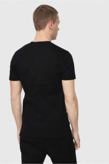 Diesel t-yasushi shirt zwart