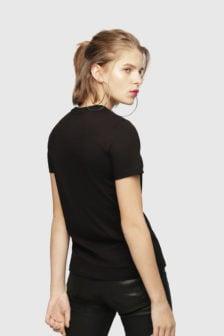 Diesel t-sily-wh t-shirt zwart