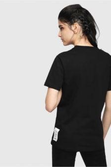 Diesel t-sily wl t-shirt zwart