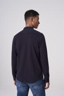 Dstrezzed stretch jersey overhemd/shirt blauw