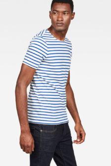 G-star raw xartto t-shirt blauw gestreept