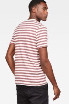 G-star kantano slim shirt wit/rood
