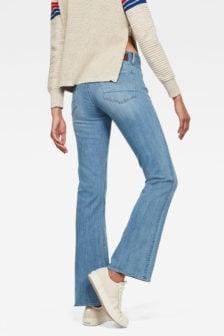 G-star mid skinny bootcut jeans blauw