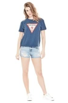 Guess classic triangle logo shirt blue
