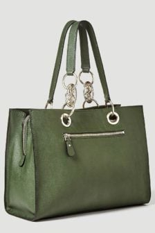 Guess alana shopper with charme forest green