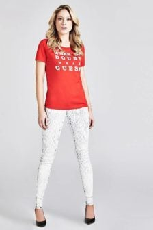 Guess sally t-shirt rood
