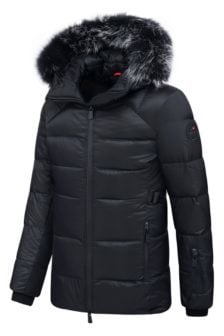 Helvetica andes longue jacket black