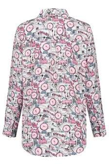 Jade twelve petit city blouse wit/roze