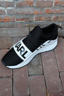 Karl lagerfeld vektor karl band runner black/white sneakers