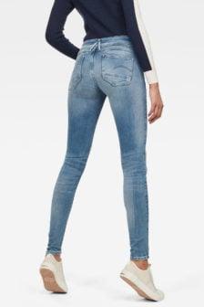G-star lynn d-mid waist super skinny jeans blauw