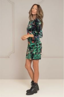 Maria tailor daggy jurk velvet print