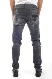 My brand jack 055 destroyed square jeans grijs