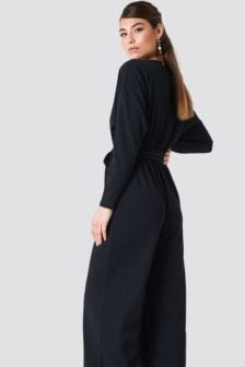 Na-kd loose fit jumpsuit zwart