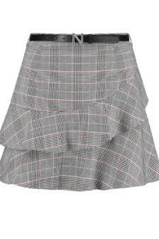 Nikkie luna skirt grey check