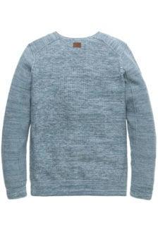 Pme legend v-neck cotton mouline augean blauw