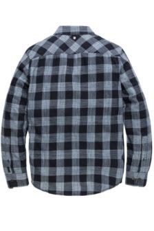 Pme legend quincy check blouse blauw