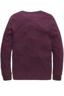 Pme legend waffle grandad lange mouwen t-shirt bordeaux rood