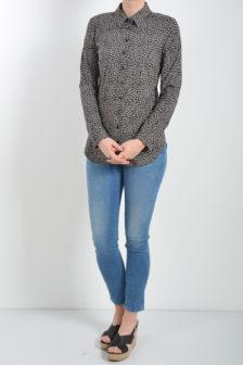 Studio anneloes poppy blouse leo small taupe/zwart