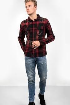 Tigha ludo hemd red/black