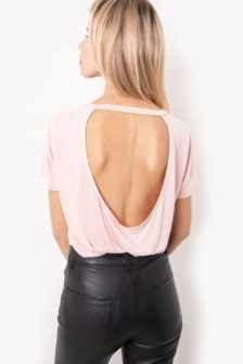 Tigha kari t-shirt roze