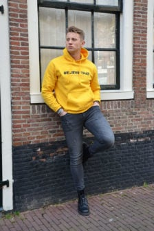 Believe that basic hoodie yellow