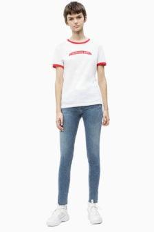 Calvin klein logo t-shirt wit