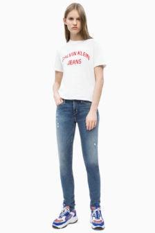 Calvin klein t-shirt met logo wit