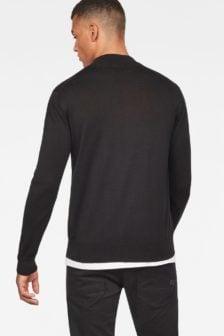 G-star raw core mock turtle knit black
