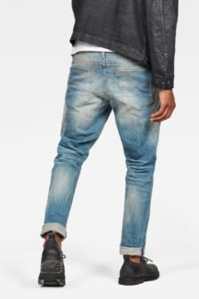G-star straight tapared lt aged jeans blauw