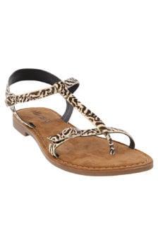 Lazamani sandalen animal print wit
