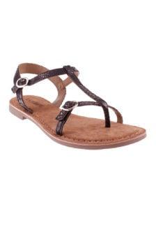 Lazamani sandalen slangenprint zwart