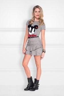 Nikkie mickey t-shirt grey melange