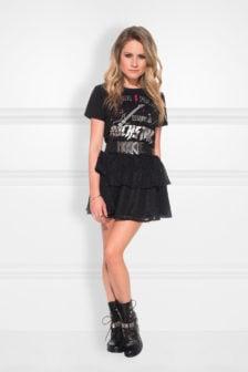 Nikkie rockstar t-shirt zwart