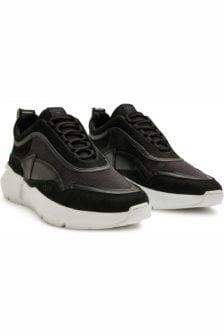 Nubikk elven boulder nubuck sneakers zwart
