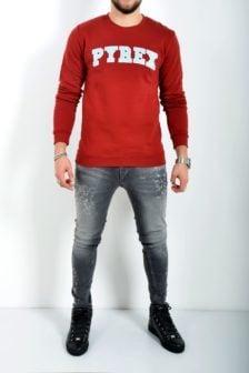 Pyrex sweater maglia felpa bordeaux