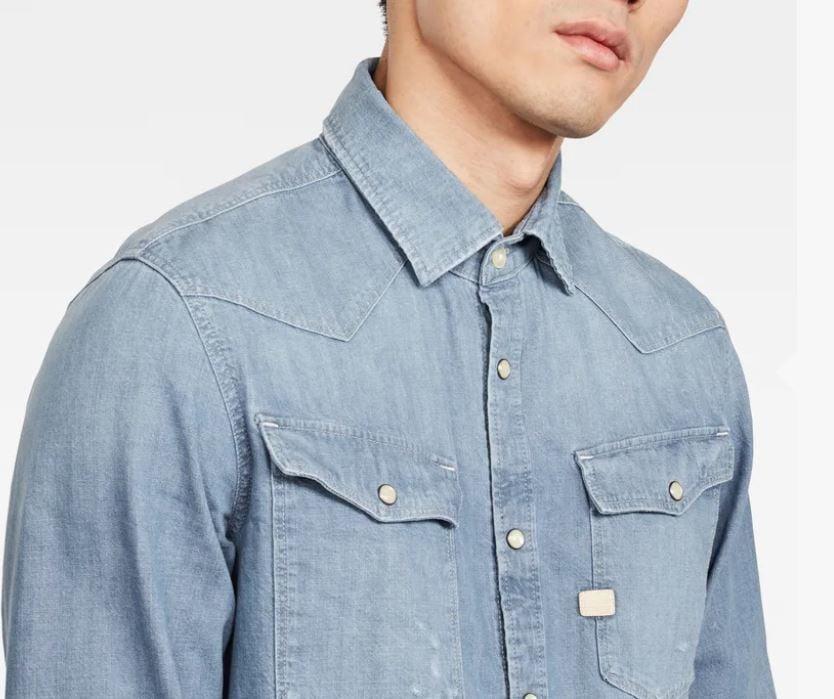 3301 Slim Overhemd | Faded Basalt | Heren | G Star RAW®
